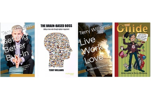 Combo: 4 books - Getting Better Buy-in + The Brain-Based Boss + Live Work Love + The Guide